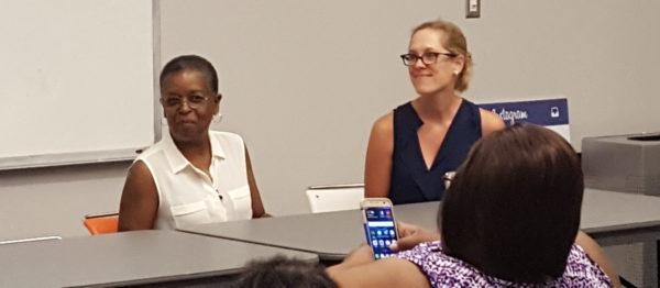 Historical authors Beverly Jenkins and Katharine Ashe