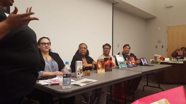Christian fiction authors Summer Kinnard, Jacquelin Thomas, Michelle Stimpson and Cassandra Durham