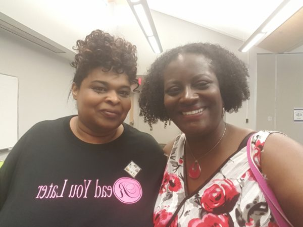 Women and Words organizer Lasheera Lee and author Reese Ryan